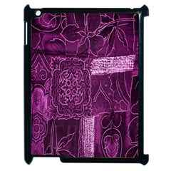 Purple Background Patchwork Flowers Apple Ipad 2 Case (black) by BangZart
