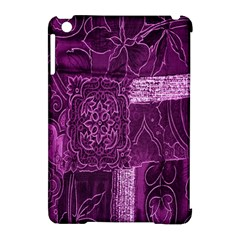 Purple Background Patchwork Flowers Apple Ipad Mini Hardshell Case (compatible With Smart Cover) by BangZart