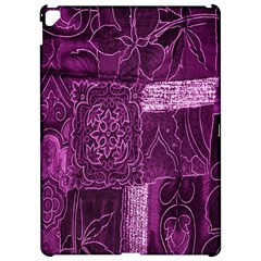 Purple Background Patchwork Flowers Apple Ipad Pro 12 9   Hardshell Case by BangZart