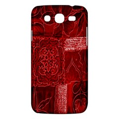Red Background Patchwork Flowers Samsung Galaxy Mega 5 8 I9152 Hardshell Case  by BangZart