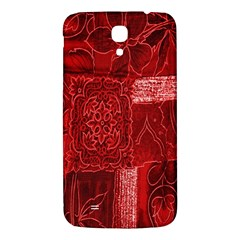 Red Background Patchwork Flowers Samsung Galaxy Mega I9200 Hardshell Back Case by BangZart