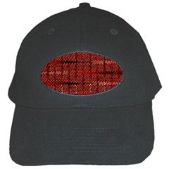Rust Red Zig Zag Pattern Black Cap by BangZart