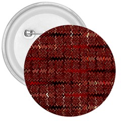 Rust Red Zig Zag Pattern 3  Buttons by BangZart