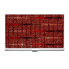 Rust Red Zig Zag Pattern Business Card Holders by BangZart