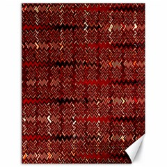 Rust Red Zig Zag Pattern Canvas 18  X 24   by BangZart