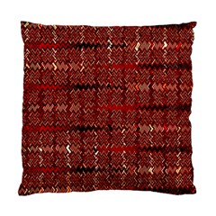 Rust Red Zig Zag Pattern Standard Cushion Case (two Sides) by BangZart