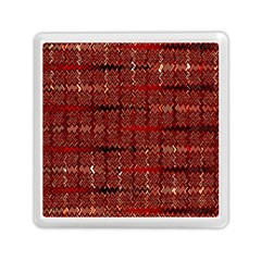 Rust Red Zig Zag Pattern Memory Card Reader (square)  by BangZart