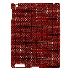 Rust Red Zig Zag Pattern Apple Ipad 3/4 Hardshell Case by BangZart