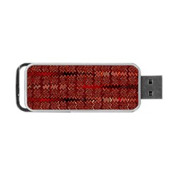 Rust Red Zig Zag Pattern Portable Usb Flash (one Side) by BangZart