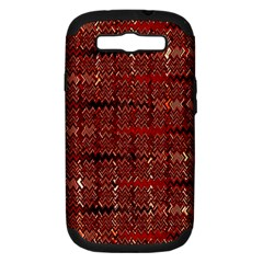 Rust Red Zig Zag Pattern Samsung Galaxy S Iii Hardshell Case (pc+silicone) by BangZart