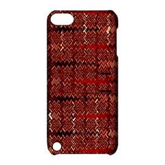 Rust Red Zig Zag Pattern Apple Ipod Touch 5 Hardshell Case With Stand by BangZart
