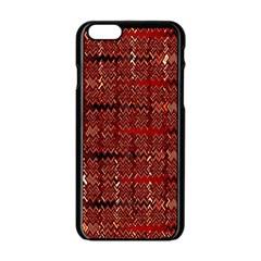 Rust Red Zig Zag Pattern Apple Iphone 6/6s Black Enamel Case by BangZart
