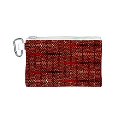 Rust Red Zig Zag Pattern Canvas Cosmetic Bag (s) by BangZart