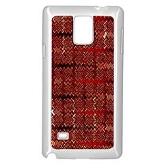 Rust Red Zig Zag Pattern Samsung Galaxy Note 4 Case (white) by BangZart