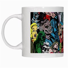 Vintage Horror Collage Pattern White Mugs by BangZart
