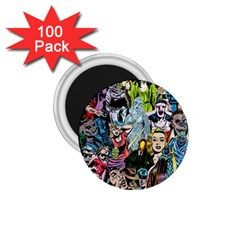Vintage Horror Collage Pattern 1 75  Magnets (100 Pack)  by BangZart