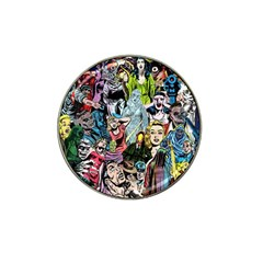 Vintage Horror Collage Pattern Hat Clip Ball Marker (4 Pack) by BangZart