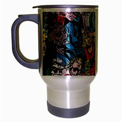 Vintage Horror Collage Pattern Travel Mug (silver Gray) by BangZart