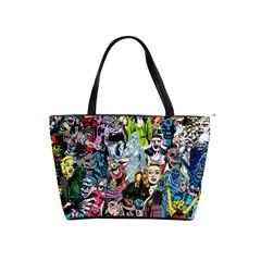Vintage Horror Collage Pattern Shoulder Handbags