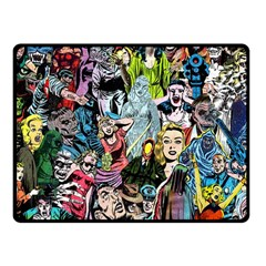 Vintage Horror Collage Pattern Fleece Blanket (small) by BangZart