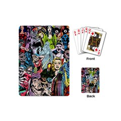 Vintage Horror Collage Pattern Playing Cards (mini)  by BangZart