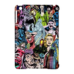 Vintage Horror Collage Pattern Apple Ipad Mini Hardshell Case (compatible With Smart Cover) by BangZart