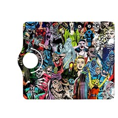 Vintage Horror Collage Pattern Kindle Fire Hdx 8 9  Flip 360 Case by BangZart