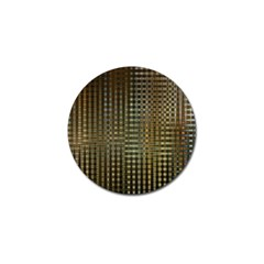 Background Colors Of Green And Gold In A Wave Form Golf Ball Marker by BangZart