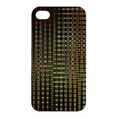 Background Colors Of Green And Gold In A Wave Form Apple Iphone 4/4s Hardshell Case by BangZart
