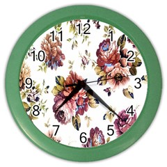 Texture Pattern Fabric Design Color Wall Clocks by BangZart