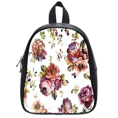 Texture Pattern Fabric Design School Bags (small)  by BangZart
