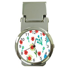 Flowers Fabric Design Money Clip Watches by BangZart