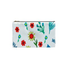 Flowers Fabric Design Cosmetic Bag (small)  by BangZart