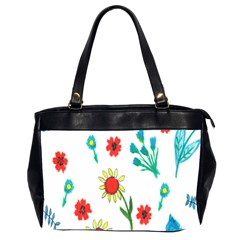 Flowers Fabric Design Office Handbags (2 Sides)  by BangZart