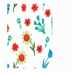 Flowers Fabric Design Large Garden Flag (two Sides) by BangZart