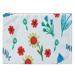 Flowers Fabric Design Cosmetic Bag (xxl)  by BangZart