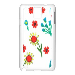 Flowers Fabric Design Samsung Galaxy Note 3 N9005 Case (white) by BangZart