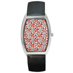 Simple Japanese Patterns Barrel Style Metal Watch by BangZart