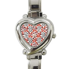 Simple Japanese Patterns Heart Italian Charm Watch by BangZart