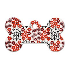 Simple Japanese Patterns Dog Tag Bone (two Sides) by BangZart