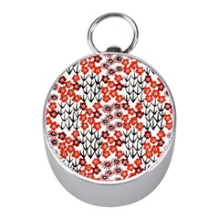 Simple Japanese Patterns Mini Silver Compasses by BangZart