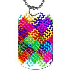 3d Fsm Tessellation Pattern Dog Tag (two Sides) by BangZart