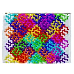 3d Fsm Tessellation Pattern Cosmetic Bag (xxl)  by BangZart