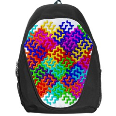 3d Fsm Tessellation Pattern Backpack Bag by BangZart