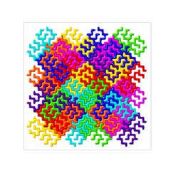 3d Fsm Tessellation Pattern Small Satin Scarf (square)