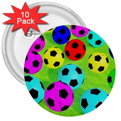 Balls Colors 3  Buttons (10 Pack)  by BangZart