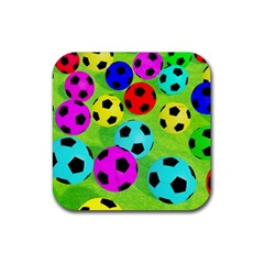 Balls Colors Rubber Square Coaster (4 Pack)  by BangZart