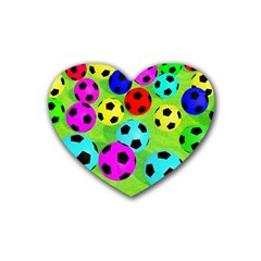 Balls Colors Heart Coaster (4 Pack)  by BangZart