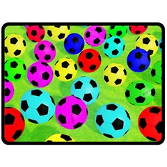 Balls Colors Double Sided Fleece Blanket (large)  by BangZart