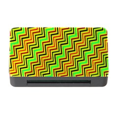 Green Red Brown Zig Zag Background Memory Card Reader With Cf by BangZart